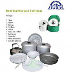 "MARMITA""DOITE""P/4P C/BASE Y PAÑO"