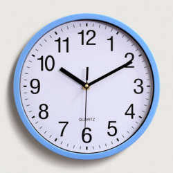 Reloj Clasico de Pared Celeste