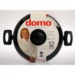 Cacerola con tapa 24 cm Tutti black Domo (021TBLl)