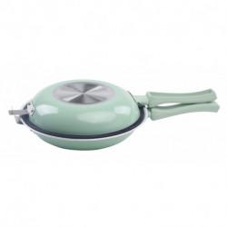 Sarten doble ceramica 24 cm Verde agua Carol linea Soft (4744)