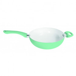 Wok ceramica 26 cm Verde agua Carol linea Soft (47127)