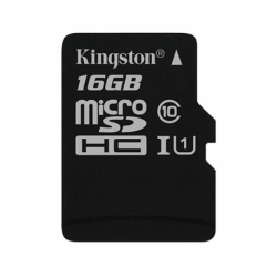MicroSD KINGSTON 16GB c/Adap Clase 10 UHS-I (U1) 80MB/s Canvas (4646