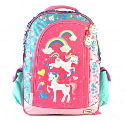 "Mochila Kooshi Pony Celeste Espalda 17"""
