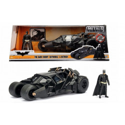 Vehiculo Batman The Dark Knight Batimovil con Figura Escala 1:24