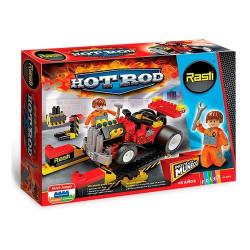 Rasti Hot Rod Muñeco Auto Herramientas Bloques 185