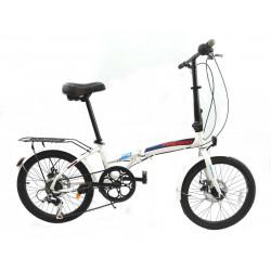 Bicicleta Fire Bird Plegable Rodado 20 6 Velocidades Discos Blanca / Azul