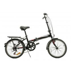 Bicicleta Fire Bird Plegable Rodado 20 6 Velocidades Discos Negro/Rojo