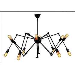 Lampara Colgante Anker Araña Luces E27 Hierro 220v Leuk