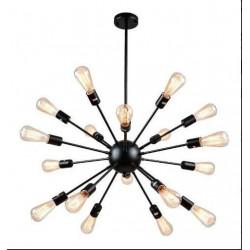 Araña 18 Luces Colgante Explosión Hiedra Lampara Negro Deco Leuk