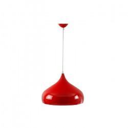Lampara Colgante Cocina Living Dormitorio Deco Iona Rojo Leuk