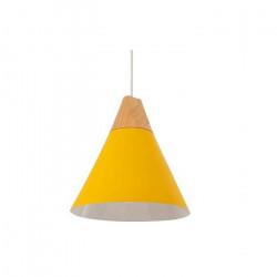 Lampara Colgante Vesna Moderna Amarillo E27 Diseño Deco Leuk