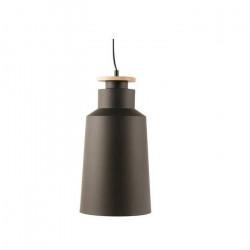 Colgante Zander Moderno Negro 1 Luz E27 Madera Leuk