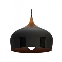Lamparas Colgantes Diseño Nórdico Nyx Negro Madera Leuk