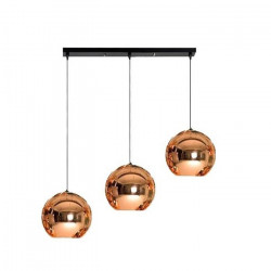 Lámparas Colgantes Deco Triple Cobre 3 Luces Tom Dixon Leuk