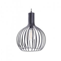 Lampara Colgante Eros Blanco 1 Luz E27 Metal Diseño Leuk