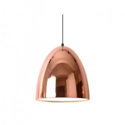 Lámpara Agapi Colgante Campana Cobre Metalizado Deco Leuk