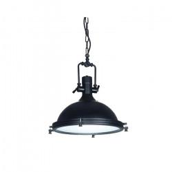 Lampara Colgante Terestia Industrial Living Vidrio Metal E27 Leuk