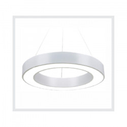 Lampara Colgante Led Integrado Yasas Blanco 48w Cálido Leuk
