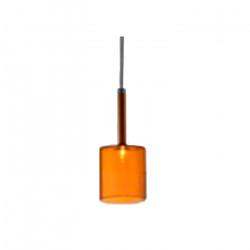 Lampara Colgante E27 Bios Fat Naranja Vidrio Leuk