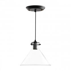 Lampara Colgante E27 Ftani Vidrio Transparente Deco Leuk