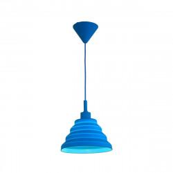 Lampara Colgante E27 Dromos Azul Plastico Decoracion Leuk