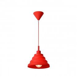 Lampara Colgante E27 Dromos Rojo Plastico Decoracion Leuk