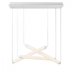Colgante Solina Triple Blanco 3x18w Led Blanco Calido Diseño Leuk
