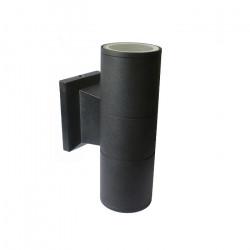 Aplique Bidireccional Exterior Gu10 Moly Ii Negro Aluminio Leuk