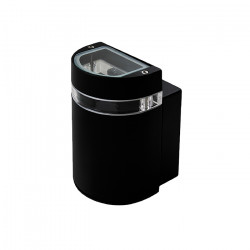 Aplique Amfid Negro Exterior 50w Gu10 Aluminio Leuk