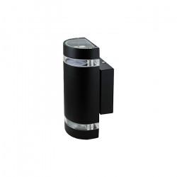 Aplique Amfid 2 Luces Negro Exterior 100w Gu10 Jardin Deco Leuk
