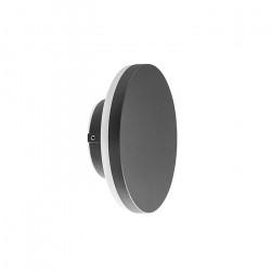 Luminaria Exterior Skote Negro 12w Led Aplique Circular Leuk