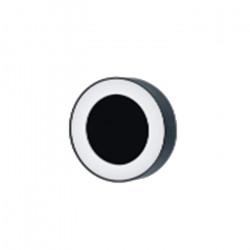 Aplique Kentro Exterior 12w Led Negro Circular Jardin Calido Leuk
