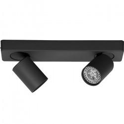 Lampara Aplique Katharo 2 Luces Negro Diseño Leuk