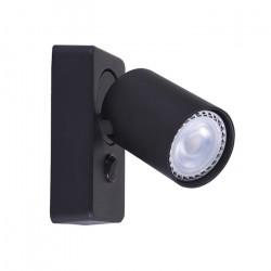Lampara Aplique Katharo 1 Luz Sw Negro Diseño Leuk
