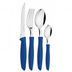 Cubiertos Plenus 24 pzs Azul Tramontina (23498/102)