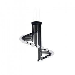 Lámpara Colgante Vivlio Araña 26 Luces Living Deco Modern Ff Leuk