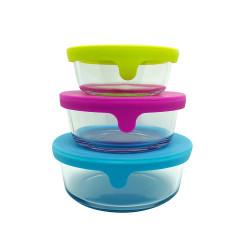 Set de bowls con tapa de silicona multifunción