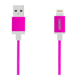 Cable MOW Textile Lightning Rosa