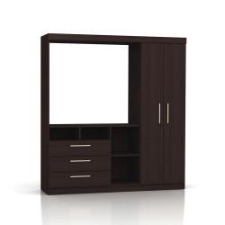 Mueble De Comedor Modular Para Tv 709/19 1,66 Mts Makenna Wengue 1,66 Mts
