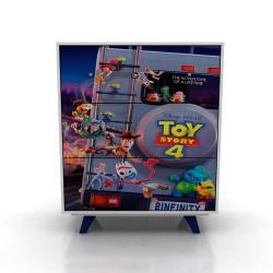 Mueble De Dormitorio Cajonera Cómoda Toy Story Disney 182/9 87 Cm De Ancho, Melamina, 3 Cajones