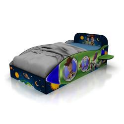 Mueble De Dormitorio Cama De 1 Plaza Toy Story Disney 804/10 1,25 Mts De Ancho Tableados Laqueados Para Colchon De 180 x 90