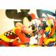Mueble De Dormitorio Placard Disney D241/2 Mickey 2 Puertas 1 Cajón Laqueado en MDP o MDF 15 mm Piezas De Madera Maciza