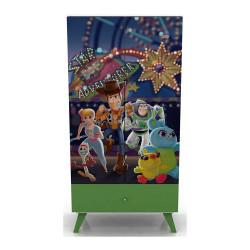 Mueble De Dormitorio Placard Disney 241/10 Toy Story 90 Cm De Ancho 1 Estante 2 Puertas 1 Cajon Tableros Laqueados