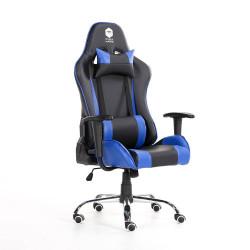 SILLA GAMER DOOKU KJ-D321C (BLACK & BLUE) CUERO