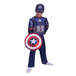 Disfraz Capitán América Avengers Con Luz Talle 2 Disney CAD218310