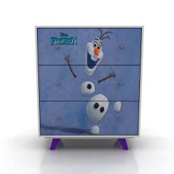 Cómoda Cajonera Frozen 3 Cajones Disney 182/15 Blanca