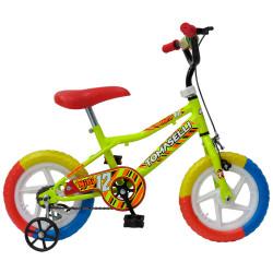 Bicicleta Rodado 12 Tomaselli Goma Eva amarillo