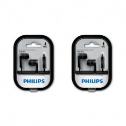 Auriculares Philips In ear (SHE1405BK10) Negro x 2
