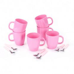 Set de Mug con cuchara 12 pzs Rosa Carol