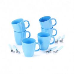 Set de Mug con cuchara 12 pzs Celeste Carol
